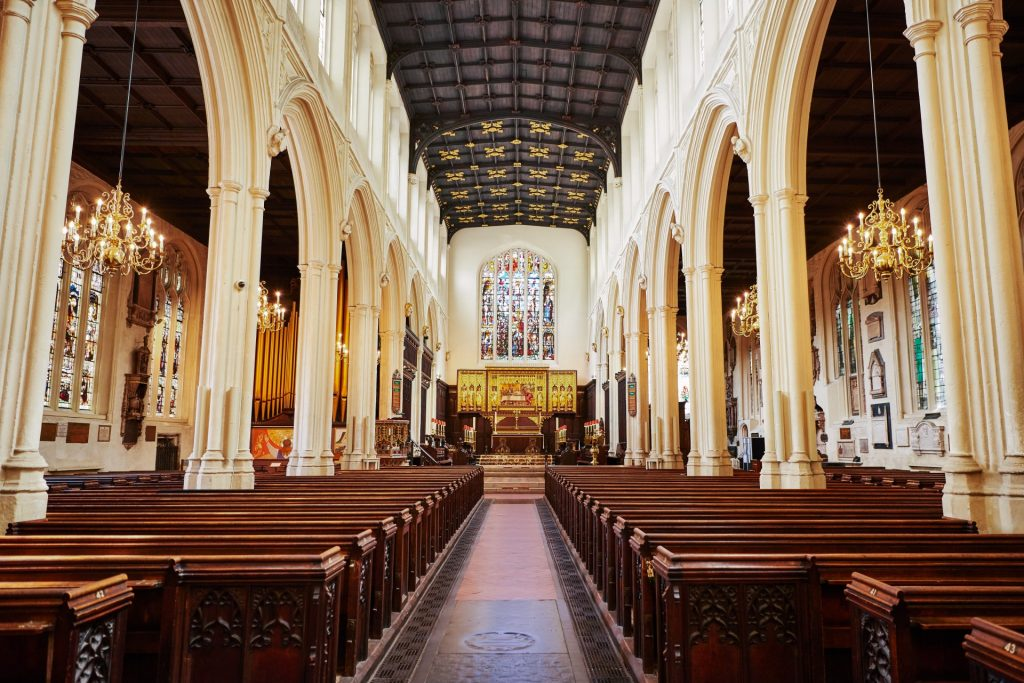 Interior of St Margaret's Church, Westminster Abbey in central London