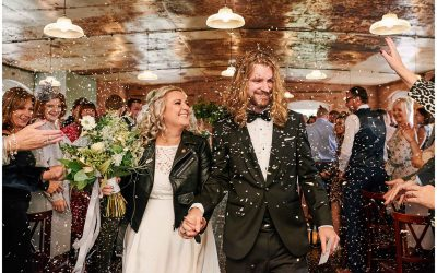 Rock n Roll Autumnal Wedding at The West Mill, Derbyshire