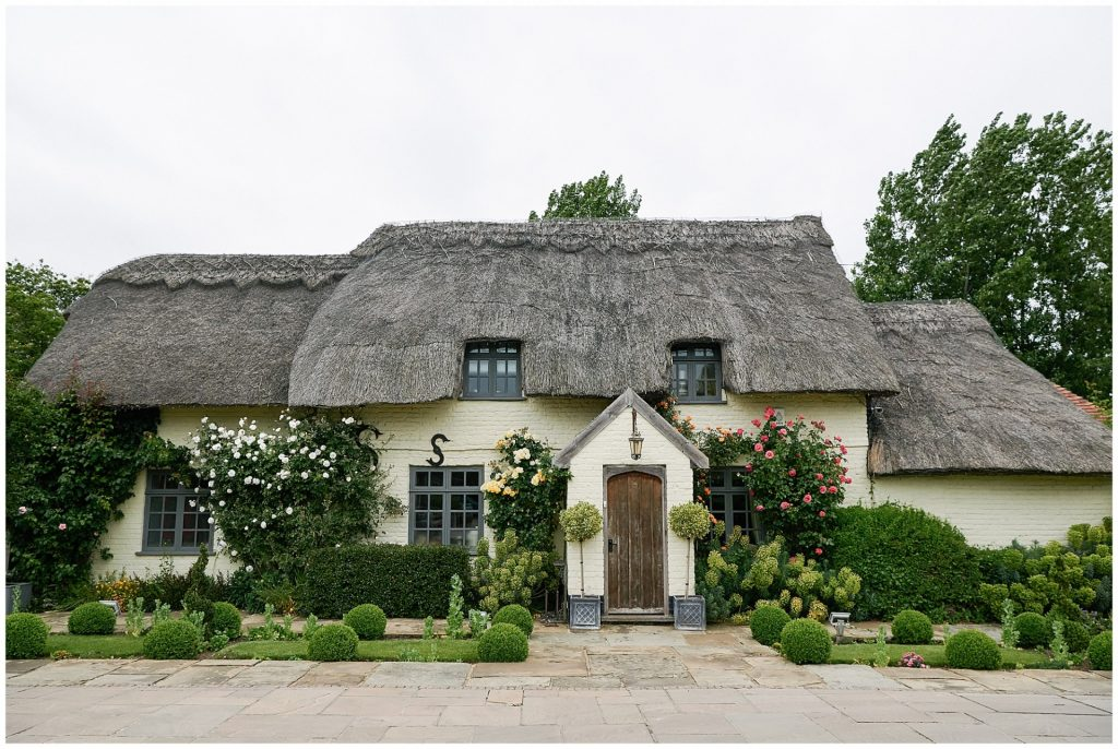 Quaint English cottage at Marleybrook House wedding venue