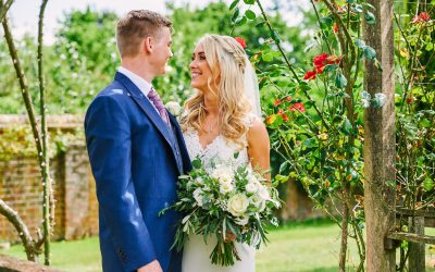 Micklefield Hall Outdoor Wedding Ceremony with Rose Garden Portraits