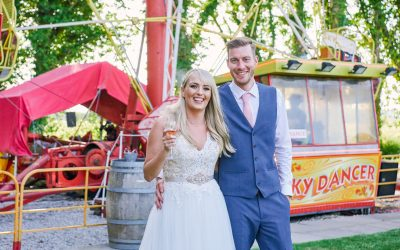 Unique Funfair Wedding at Marleybrook House with Outdoor Ceremony