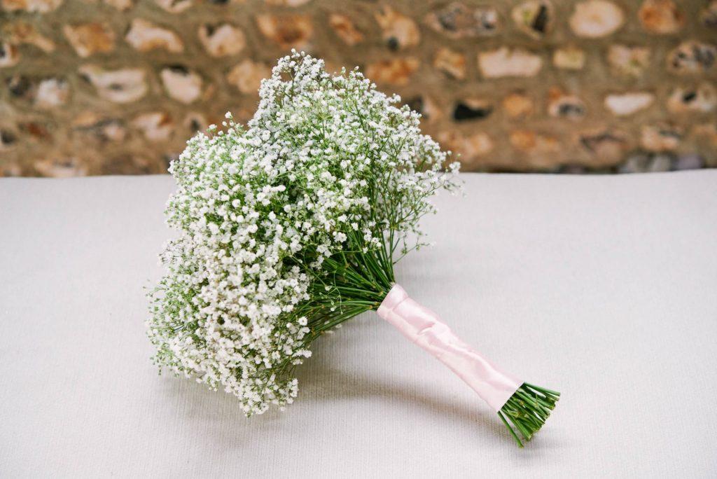Bridesmaids baby breath flower bouquet